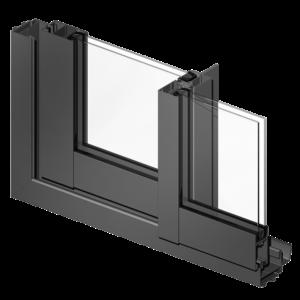 Ventana deslizante térmica de aluminio